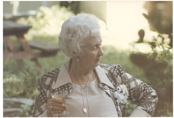 My grandmother at a summer party in 1985.