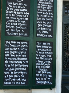 Notice Outside of Shakespeare & Co