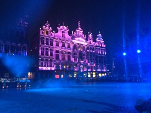 Light Show in the Grand Place