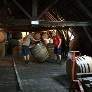 Barrels of Beer at Cantillon