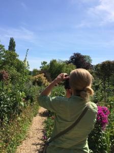 Taking Photos in Monet's Garden
